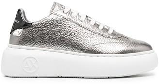 Armani Exchange Metallic Platform Sole Sneakers