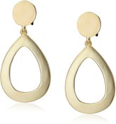 Kenneth Jay Lane Open Drop Button Top Clip-On Earrings