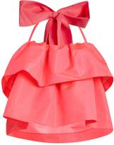 MSGM Detachable-bow tiered faille top