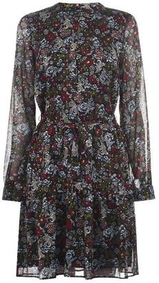 SET Long Sleeve Printed Dress