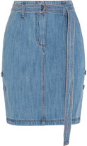 Sjyp Belted Denim Skirt