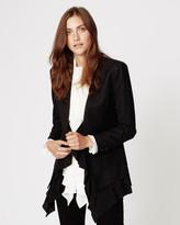 Nicole Miller Ruffle Trim Blazer