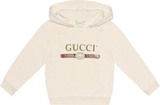Gucci Kids Logo cotton hoodie