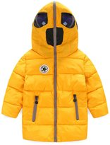 Yollmart Boys' Jacket Hood Thicken Puffer Windproof Coat-140