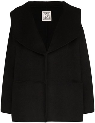 Totême Annecy oversized-collar peacoat