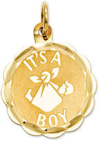 Macy's 14k Gold Charm, It's A Boy Charm