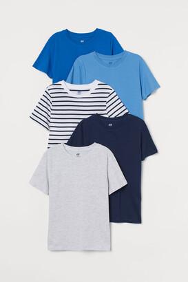 H&M 5-pack T-shirts - Blue