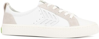 Cariuma CATIBA Low Off White Leather Ice Suede Accents Sneaker