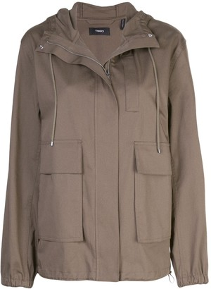Theory cargo military jacket