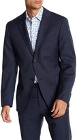 Jack Spade Warren Trim Fit Micro Design Wool Sport Coat