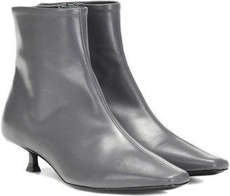 BY FAR Laura leather ankle boots