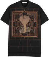 Givenchy Cobra-print Piqué Cotton Polo Shirt