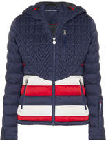 Perfect Moment - Vale Hooded Quilted Down Ski Jacket - Midnight blue