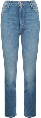 Mother High Rise Slim Fit Jeans