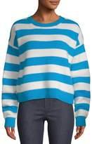 Diane von Furstenberg Women's Striped Baseball Pullover