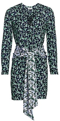 DELFI Collective Mixed Print Tie-Front Mini Dress
