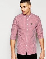 Lyle & Scott Shirt In Gingham Check In Red