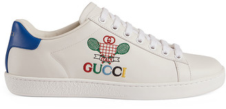 Gucci New Ace Tennis Sneakers in White | FWRD
