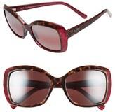 Maui Jim Women's 'Orchid' 56Mm Polarized Sunglasses - Grey Tortoise Stripe/ Grey