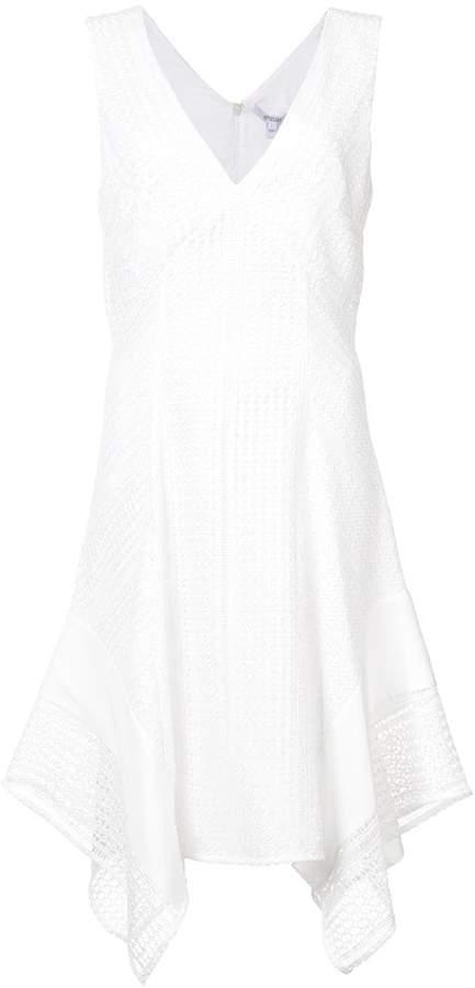 Derek Lam 10 Crosby Sleeveless V-Neck Pieced Lace Dress