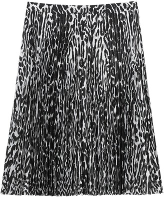Burberry Black And White Pleated Skirt