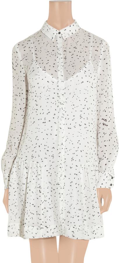 A.L.C. Mirabelle printed silk-georgette shirt dress