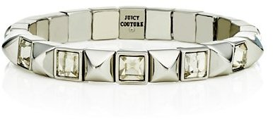 Juicy Couture Pyramid & Stone Stretch Bangle