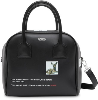 Burberry small montage print Cube Bag