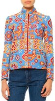 Valentino Long-Sleeve Tribal-Print Jacket, Multi Colors