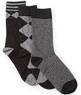 Class Club 3-Pack Crew Pattern Dress Socks
