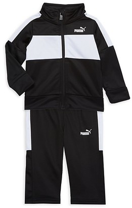 Puma Baby's 2-Piece Colorblock Track Jacket Pants Set
