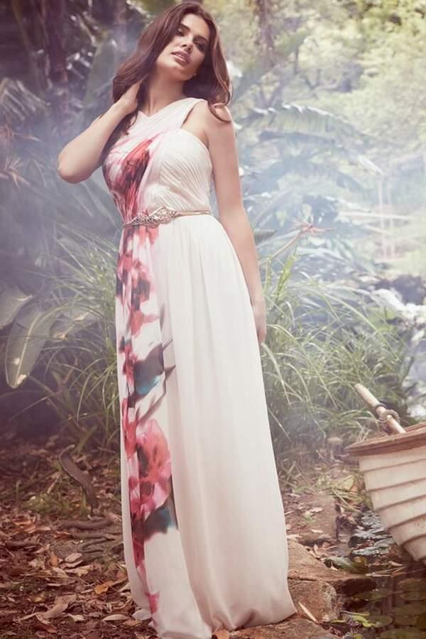 Little Mistress Blur Print Crossover Front Maxi dress