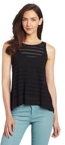 Only Hearts Club Women's Eyelet Jersey Dovetail Tank With Liner