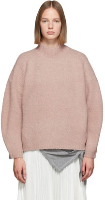 3.1 Phillip Lim Pink Oversized Dropped Shoulder Turtleneck