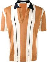 Andrea Pompilio - Open polo shirt - men - Cotton - 48