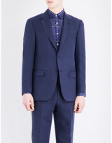 Canali Tailored-fit Linen And Silk-blend Jacket