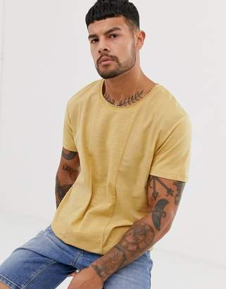 Jack and Jones cut and sew t-shirt in beige