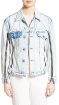 3.1 Phillip Lim Women's Zipper Detail Denim Jacket
