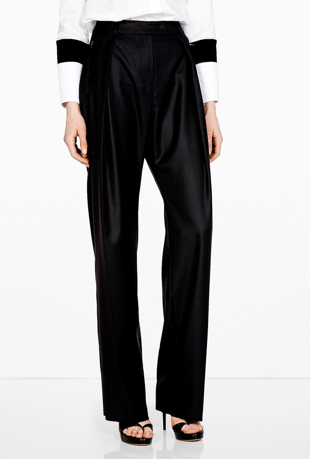 Preen Black Fine Wool Baloon Pants