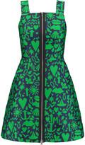 Markus Lupfer Elektra jacquard mini dress