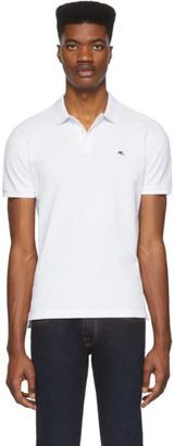 Etro White Logo Polo