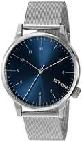 Komono Unisex KOM-W2353 Winston Royale Series Analog Display Japanese Quartz Silver Watch