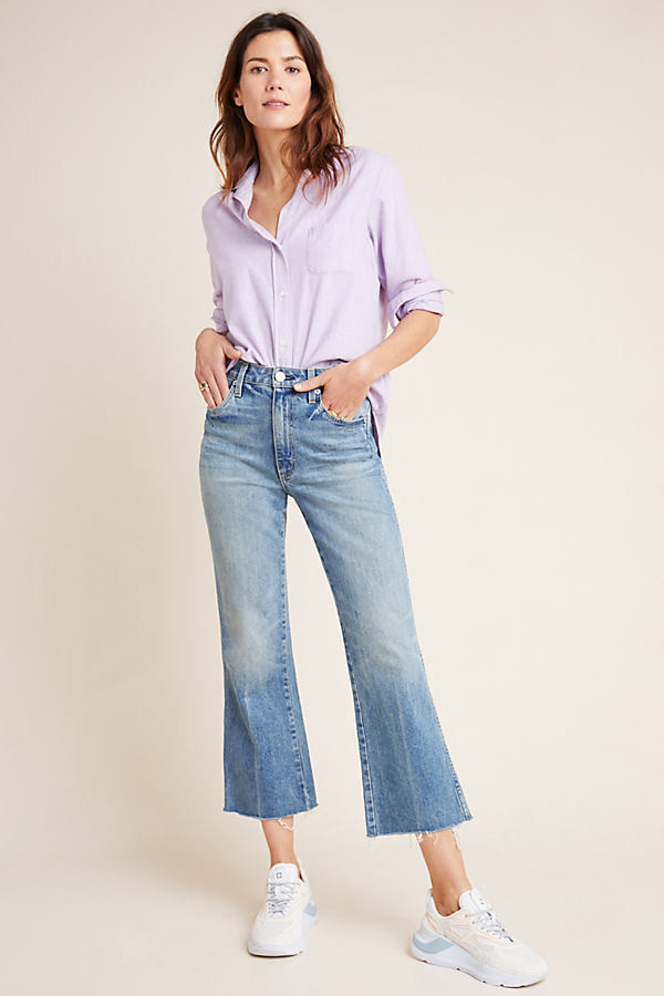 Topanga Ultra High-Rise Cropped Flare Jeans By in Blue Size 25