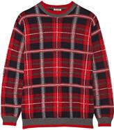 Miu Miu Oversized tartan wool sweater