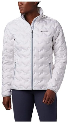 Columbia Delta Ridgetm Down Jacket (White/Citrus) Women's Coat