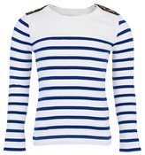 Junior Gaultier Cream and Blue Tee