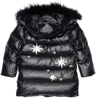 Yves Salomon Enfant Stars Hooded Down Jacket