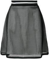 Moschino layered sheer A-line skirt