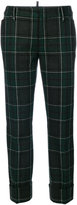 DSQUARED2 check flared pants - women - Polyamide/Polyester/Wool - 38