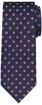 Daniel Hechter Shadow Flower Woven Silk Tie, Navy/burgundy
